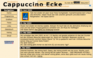 Cappuccino Ecke anno 2002