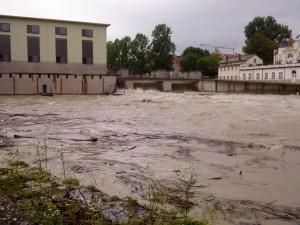 Hochwasser am Maxwehr